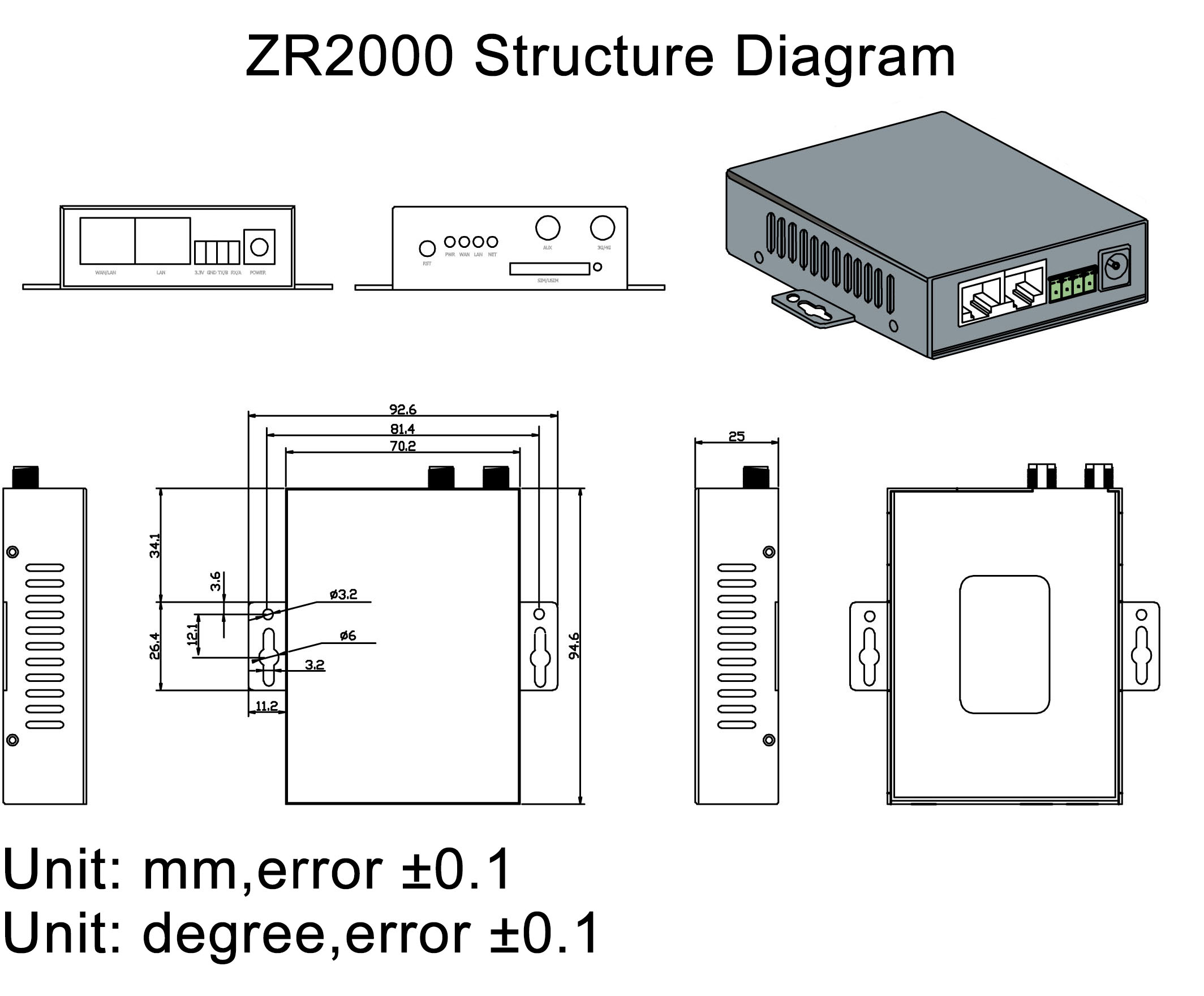 ZR2000 Industrial 4G Router